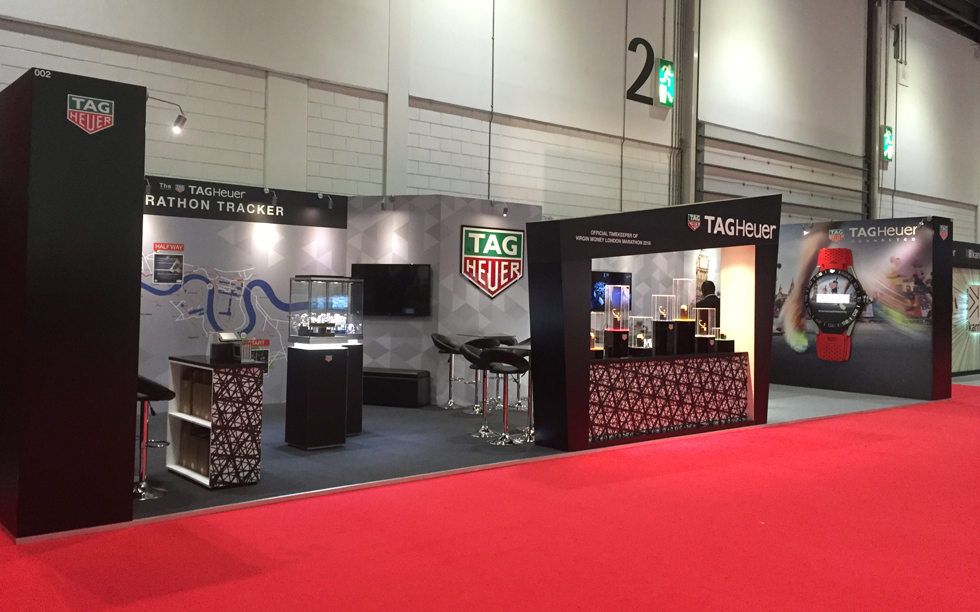 Event design and decoration done by Brightleaf for Tag Heuer