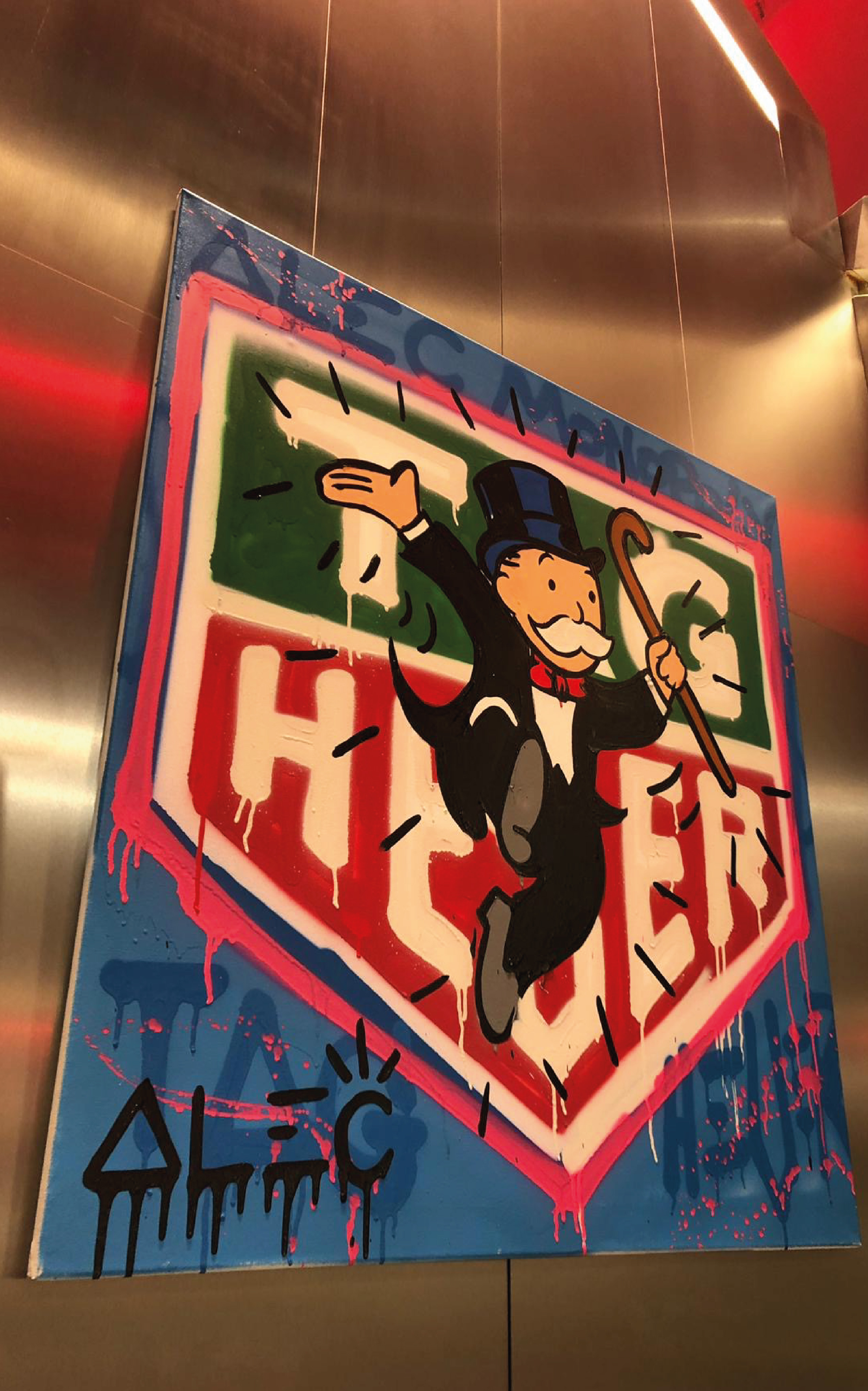 ALEC MONOPOLY HANGING SIGN